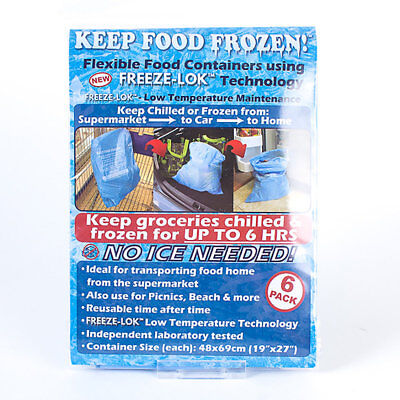 Pack of 6 Freezer Bags - Keep Food Frozen From Supermarket To Home