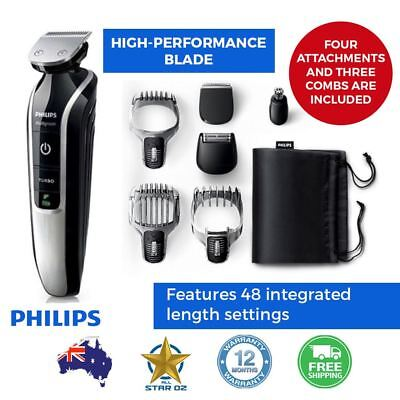 Hair Clipper Beard Trimmer Electric Rechargeable Cordless Shaver 7 in 1 Philips