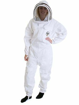 BUZZ Bee suit with fencing veil and white leather Gloves - All sizes available