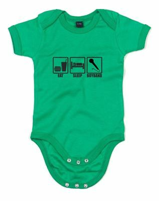 Eat Sleep Boyband, Printed Baby Grow