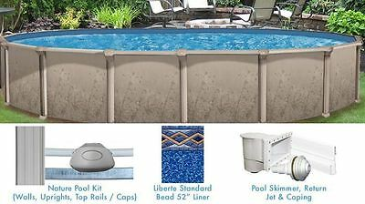 Nature 15' x 30' ft Oval Above Ground Swimming Pool with Liner and Skimmer