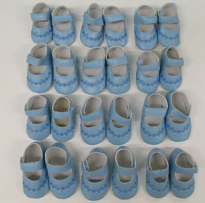 Baby Shoes Blue boys girls pram shoes up to 12 months job lot 12 pairs wholesale