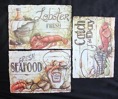 100 Paper Placemats Set Of 3 Seafood Designs Free Shipping