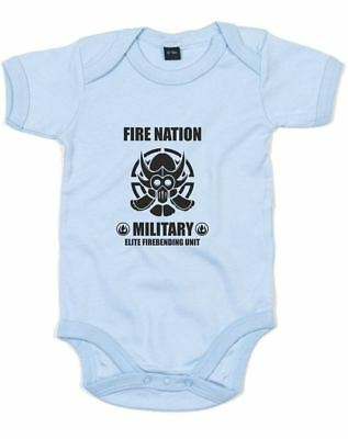 Elite Firebending Unit, Printed Baby Grow