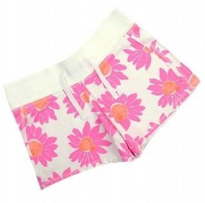 Next Girls White/Pink Floral Print Jersey Shorts Ages 3 5 BRAND NEW SALE!