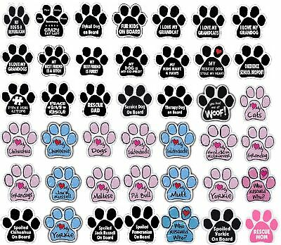 "Paw Magnet (Choose Your Design) Dogs Cats 5.5"" x 5.5"" Shaped Heart"