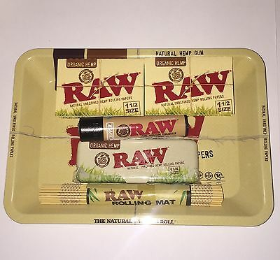 *new Listing Raw Paper Mini Tray Bundle Papers+Tips+Rolling Machine+Lighter Etc