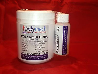 RTV2 WHITE Liquid Silicone Molding Rubber 500g Kit Candle Soap Craft Moulds