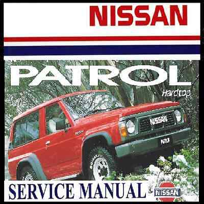 NISSAN PATROL GQ Y60 Series 1987-1994 TB42 TD42 Workshop Service Manual CDrom
