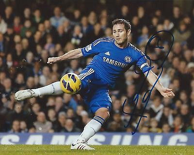Frank Lampard Signed 8×10 Photo Chelsea FC Autographed COA B