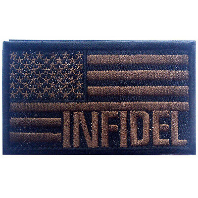 Usa Flag Usa Infidel Flag U.s. Army Morale Badge Tactical Hook Patch #7
