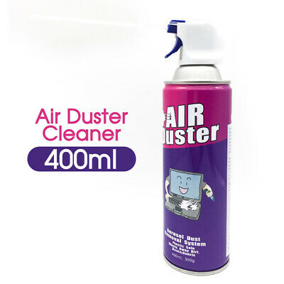 2x Multi-purpose Compressed Air Duster Cleaner 400ml Laptop PC Keyboard Camera