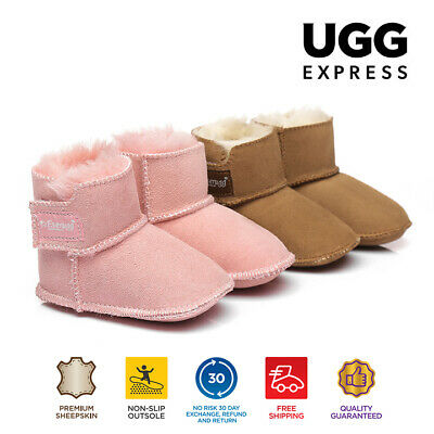 UGG BOOTS-Kids Bootie Cradle - Baby Erin Infant, Australian Sheepskin, No Sole
