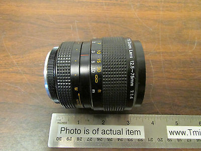 TV Zoom Lens 12.5 - 75mm 1:1.4 With Macro Setting Made In Japan