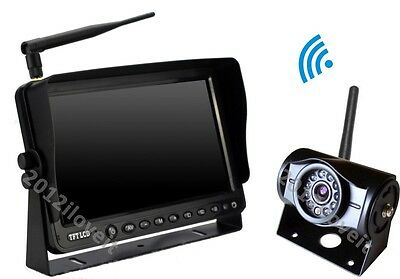"""7"""" Wireless Rear View Backup Camera System Cctv For Skid Steer, Forklift Tractor"""