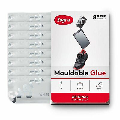 Sugru Mouldable Glue - It turns into rubber - 8 Pack [White]