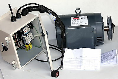 Lincoln 240V 5hp Single Phase Electric Motor & Control