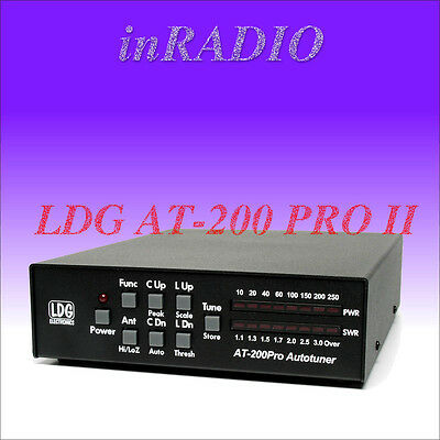 LDG AT-200 PRO II Automatik Antennentuner 1.8-54MHz 250W AT200 Antenna Tuner ATU