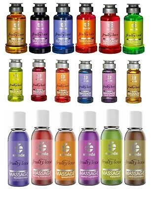 Warming Erotic Massage Oil Lotion Edible Swede Fruity Love Condom Safe Wet Play