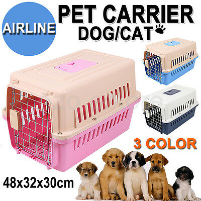 Airline Travel Pet Carry Bag Dog Cat Rabbit Cage Carrier Portable Tote Crate AU