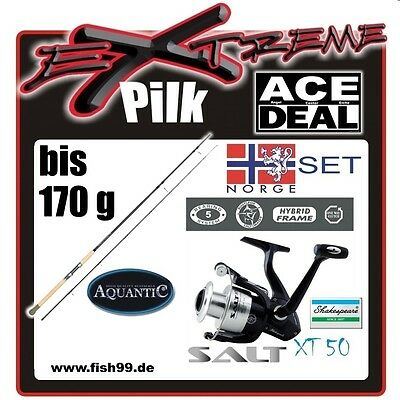 Aquantic Extreme Pilk 2,40 m + Shakespeare Salt XT 50