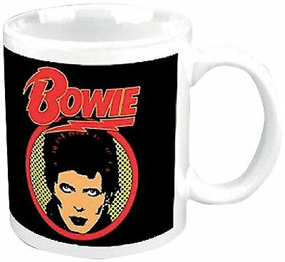 David Bowie Ziggy Stardust Logo Flash Image White Boxed Coffee Fan Gift Mug Cup