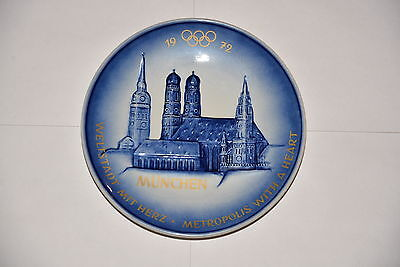 "Goebel Collector Porcelain Plate 7"" - 1972 Frauenkirche Munich Olympic Games"