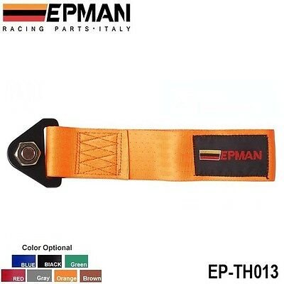 Epman orange universal tow rope strap track day race car project car