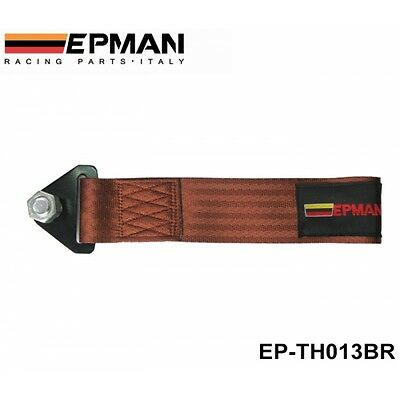 Epman Brown universal tow rope strap track day race car project car