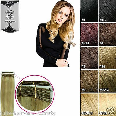 Silky Straight European Remy AAAAA Grade 100% Human Hair Extensions Weft / Weave