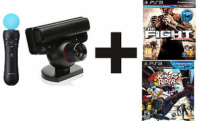Playstation Move Kit Completo + The Fight + Kung Fu Rider + Starter Disc Ita