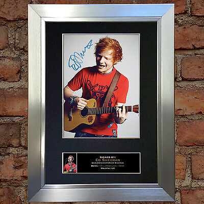 ED SHEERAN No2 Signed Autograph Mounted Photo Repro A4 Print 80