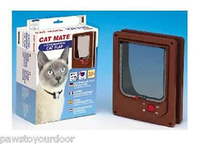 Pet Mate 254B Cat Flap Electromagnetic Pet Door 4 Way Locking Magnetic