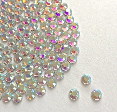 Hot fix Iron On Crystal AB Rhinestones 10 Gross 1440 Loose Diamante