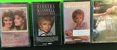 Lot Of 4 80's Female Country Singer Cassettes Reba The Judds Barbara Mandrell