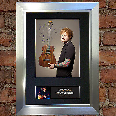 ED SHEERAN No3 Signed Autograph Mounted Photo Repro A4 Print 400