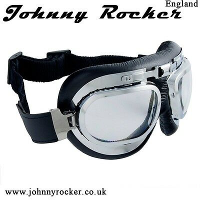 Johnny Rockers Speed Shop Aviator motorcycle goggles