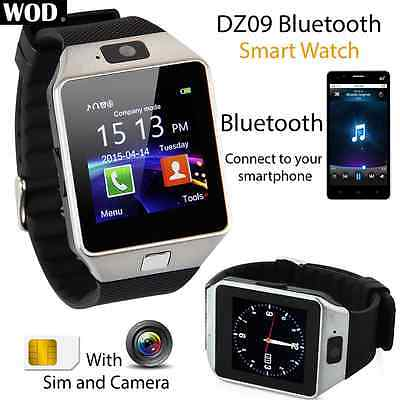 2016 DZ09 Reloj Inteligente Smart Watch Bluetooth 2G SIM Para iPhone Android