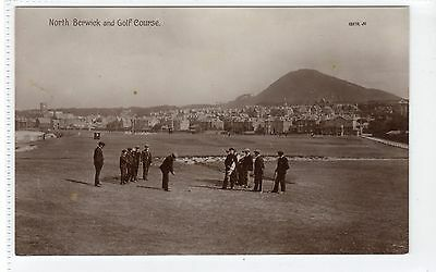 NORTH BERWICK AND GOLF COURSE: East Lothian postcard (C18899)
