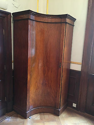 Unique Stunning Solid Wood Antique Vintage Wardrobe with curved door - AD