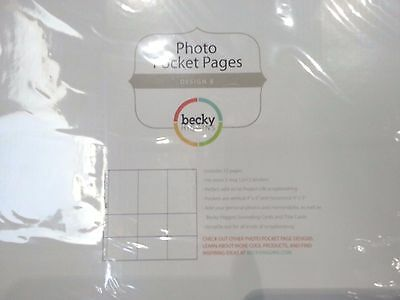 Project Life by Becky Higgins - Photo Pocket Pages  Design B 10 Pack of 12pages