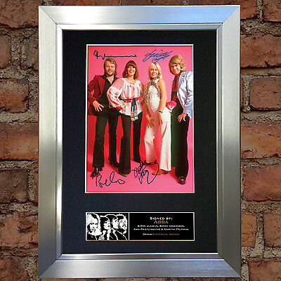 ABBA Signed Autograph Mounted Photo Reproduction A4 Print 371