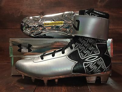 Under Armour C1N MC Cam Newton Football Cleats Black Met Silver ( 1258012-003 )