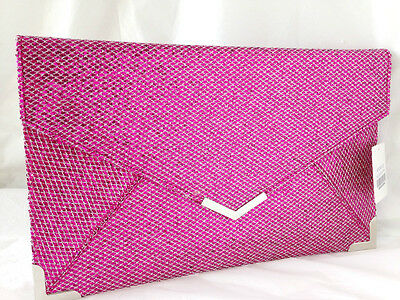 New Fuschia Hot Pink Glitter Evening Day Clutch Bag Wedding Prom Party Club