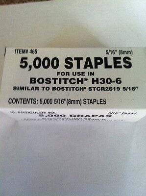 "STANLEY BOSTITCH STAPLES. Arrow. H30-6, #2619, 5/16"". Free Shipping!"