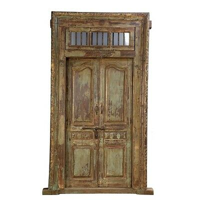 "99.5"" Hermelinda Door and Frame  Carved Antique Architectural Vintage Solid Wood"