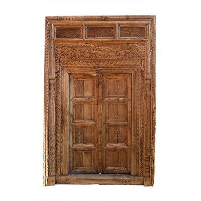 "108"" Lucinda Wooden Door  Carved Antique Vintage Architectural Hand Made 31"