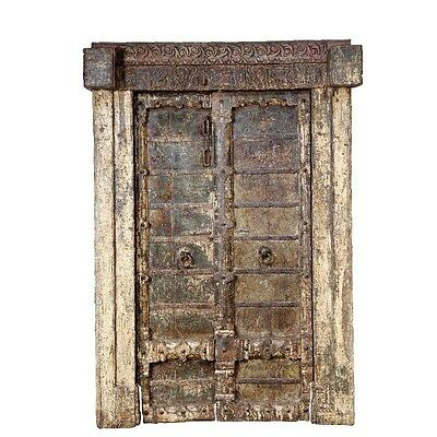 "87"" Brooke Door with Frame  Carved Antique Architectural Vintage Solid Wood Hand"
