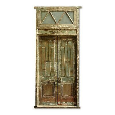 "116"" Andres Old Door  Carved Antique Architectural Vintage Solid Wood Hand Made"