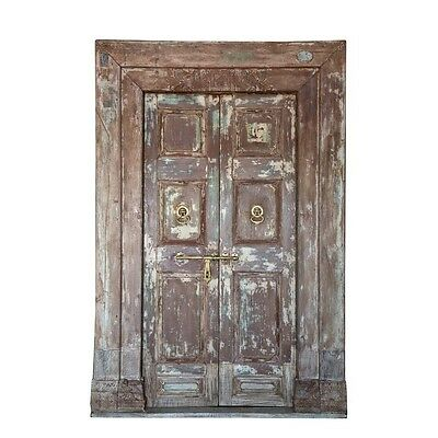 "72"" Edgar Door and Frame  Carved Antique Architectural Vintage Solid Wood Hand M"